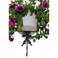 Suport din fier forjat pentru flori de perete