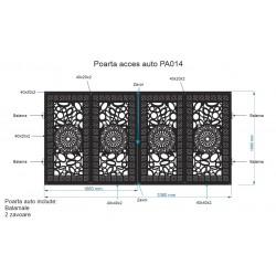 Poarta acces Auto , PA014 ,...